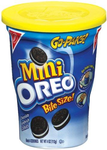 Oreo Mini Chocolate Bite Size Sandwich Cookies, 4-Ounce Go Paks (Pack of (Bites Snack Pak)