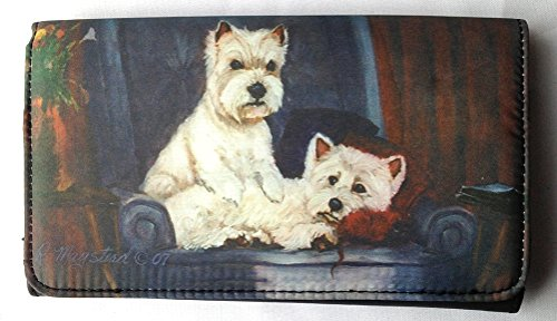 WEST HIGHLAND WHITE TERRIER (Westie) Dog Wallet Designed by Ruth Maystead (Westie Wallet)