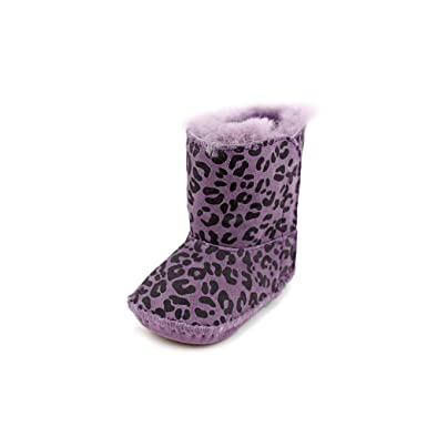 ugg australia cassie leopard infant baby girls purple winter boots ...