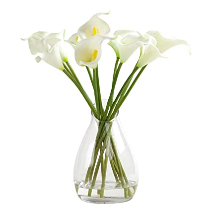 Amazon Fudostar Artificial Calla Lily Flowers In Simulated