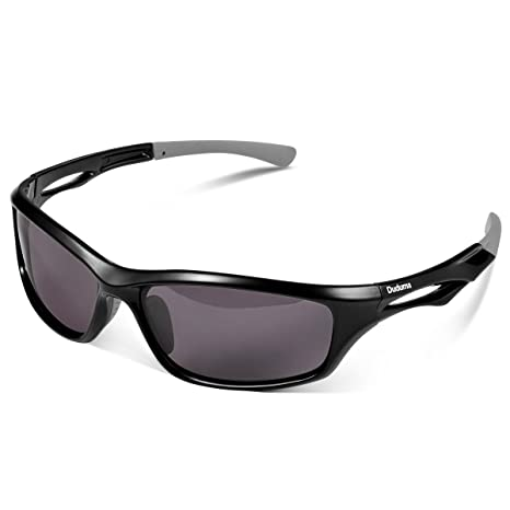 ab9158c6102 Duduma Polarized Sports Sunglasses Driving Sun Glasses for Men Women TR90  Durable Frame for Cycling Baseball Running (Black Frame with Black Lens)