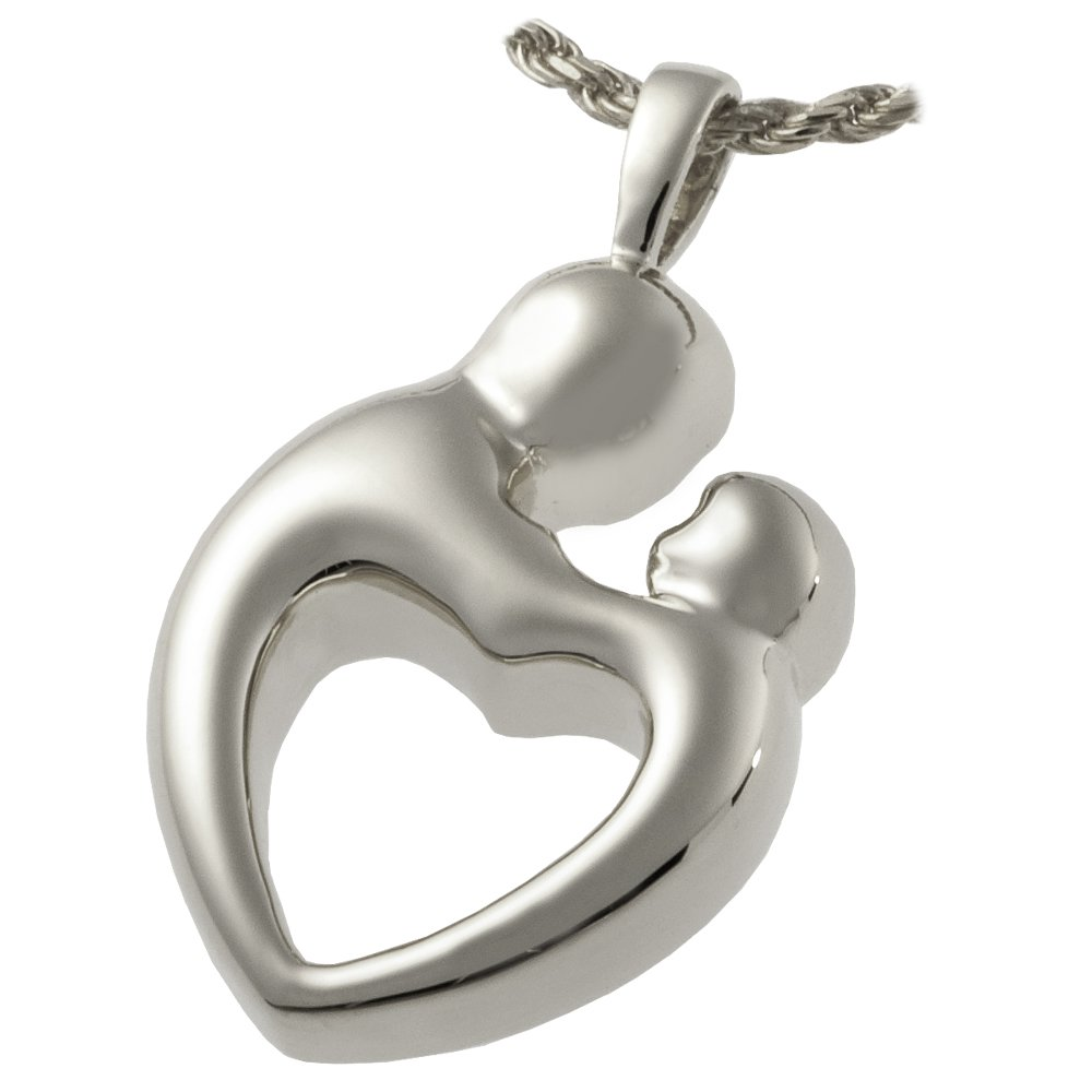 Memorial Gallery 3191S Parental Love Double Compartment Sterling Silver Cremation Pet Jewelry