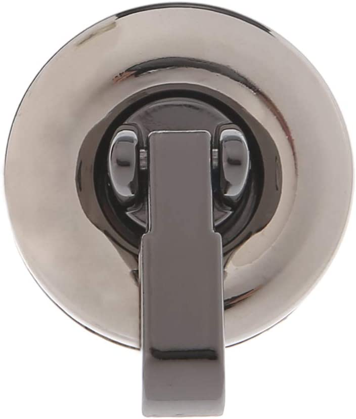 ZZALLL Metal Round Shape Clasp Turn Lock Twist Lock for DIY Handbag Bag Purse Hardware Gold