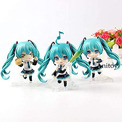 Amazon.com: 9cm (3.5 inch) - 3pcs/Set - Hatsune Miku Doll ...