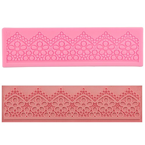 Clest F&H Lace Shaped Silicone Fondant Cake Moulds Sugarcraft Decorating DIY Baking Tools