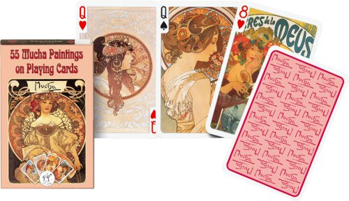 Alphonse Mucha Paintings - Piatnik Mucha Playing Cards