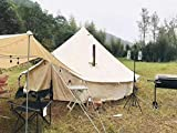 DANCHEL OUTDOOR Cotton Canvas Bell Tent with All
