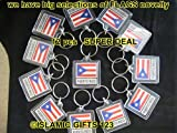 Puerto Rico Flag Key Chain--12pcs- SUPER DEAL----visit our store for many other flags and ISLAMIC GIFTS-- 100% POSITIVE FEEDBACK
