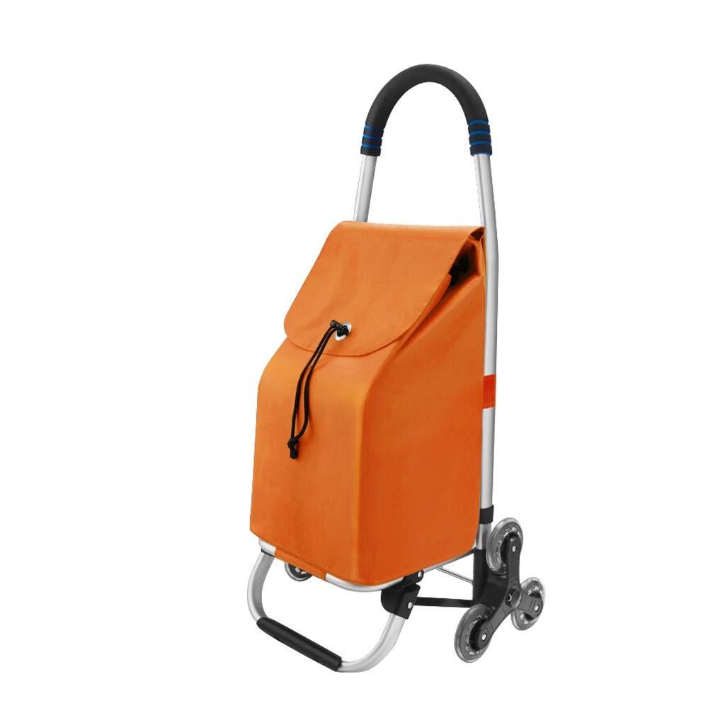 トロリードリー、ショッピングカート多機能食料品折りたたみピクニックビーチ - 簡単に階段を上がる、両親へのプレゼント、6色 (色 : Orange) B07QSQM1H2 Orange