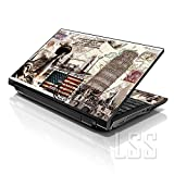 LSS 17 17.3 inch Laptop Notebook Skin Sticker Cover Art Decal Fits 16.5' 17' 17.3' 18.4' 19' HP Dell Apple Asus Acer Lenovo Asus Compaq (Free 2 Wrist Pad Included) World Landmarks