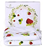 coolest shower heads Organic Bamboo Hooded Baby Bath Towel - Luxury Spa Super Soft for Sensitive Skin - Strawberry, 2 Layers Reversible-Absorbent Keep Dry&Warm-Antibacterial,Hypoallergenic-Perfect Shower Registry Gift