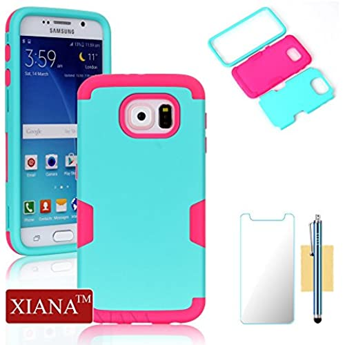 Galaxy S7 Case,XIANA Shockproof Hybrid Rubber Combo Silicone & PC Case Back Cover 3 in 1 for Samsung Galaxy S7 Sales