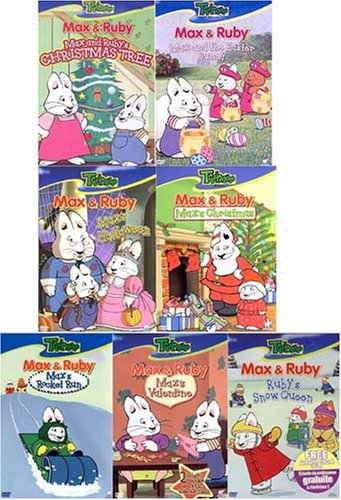 Max and Ruby - Special (7 packs) Ruby's Christmas Tree, Max and the Easter Bunny , Max's Christmas , Max's Halloween , Max's Rocket Run , Max's Valentine , Ruby's Snow Queen -