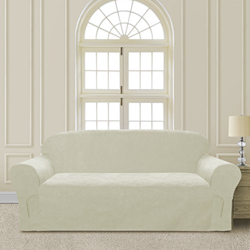 Comfy Bedding Microsuede Sofa Furniture Slipcover with Elastic Straps under Seat Cushion (Beige, Sofa) (For Cheap Online Sofas)