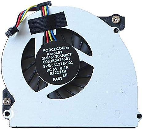 3CTOP Ventilador refrigerador CPU para EliteBook 2560 2570 2560p ...