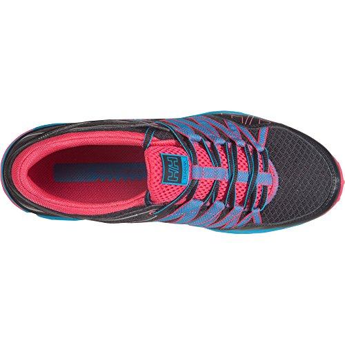 Helly Hansen W Terrak, Zapatillas de Running para Mujer Negro / Rosa (Jet Black / Magenta / Win)