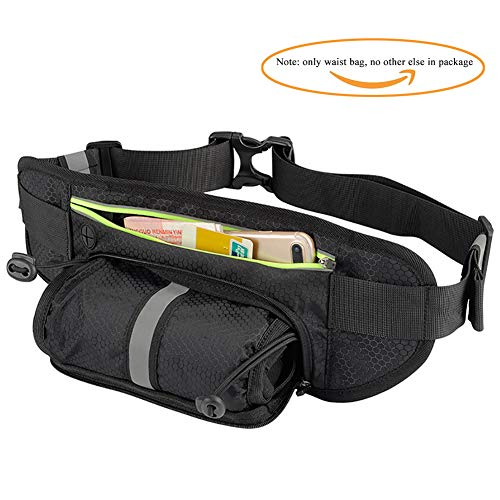 Sireck Waist Pack Running Belt with Water Bottle Holder, Waterproof Hiking Fanny Pack Running Bag for Cycling Runner Fit for iPhone, Samsung, Huawei Up to 6