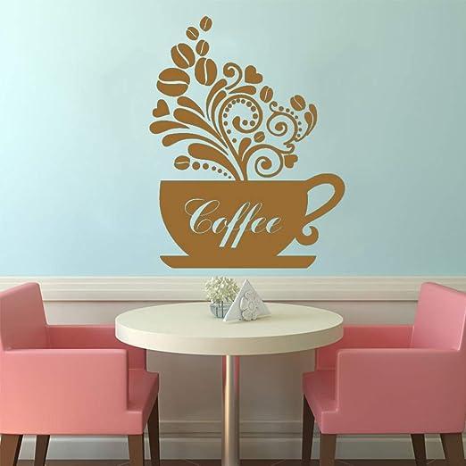 yiyiyaya Pegatinas de Pared Taza de café Decoración para el hogar ...