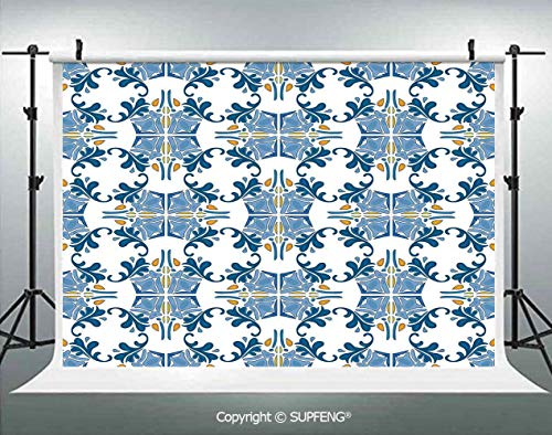 (Photo Backdrop Roman Tile Mosaic Design with Famous Artful Eastern Inspired Image 3D Backdrops for Interior Decoration Photo Studio Props)