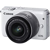 Canon EOS M10 Mirrorless Digital Camera with 15-45mm Lens (White) - International Version (No Warranty)