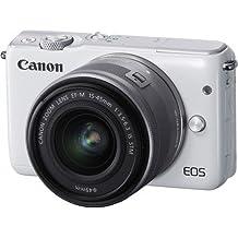 Canon EOS M10 Mirrorless Digital Camera with 15-45mm Lens (White) - International Version (No Warranty)