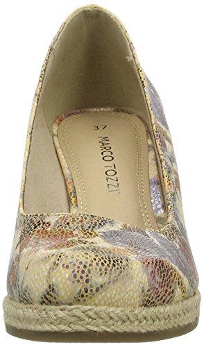 Marco Tozzi 22440, Women's Platform Shoes Beige (Dune Flower 439)