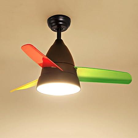 Modern dibujos animados creativos endes Estimulante Fan Forma araña Fácil – Lámpara de techo plafón Baby lámpara Ventilador de techo Silent Light para habitación de los Niños Dormitorio Incluye mando a distancia