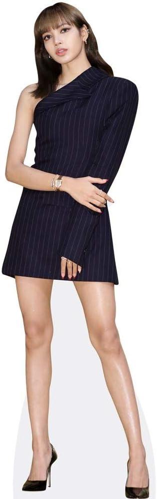 Pappaufsteller lebensgross Pinstripe Blackpink Celebrity Cutouts Lisa