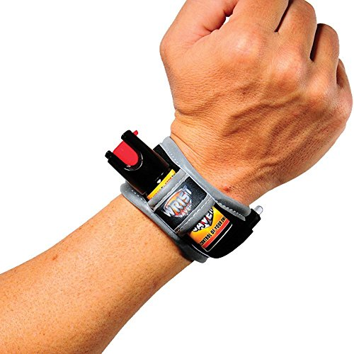 Personal Savers Pepper Spray Lightweight Wristband for Runners/Joggers/Walking/Hiking, Small, Black Orange