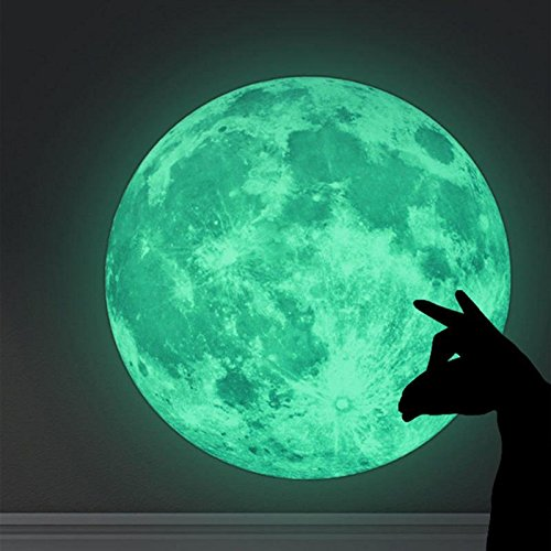 Buzfi Glow In the Dark Moon, Wall Stickers For Kids, The Dark Sticker Night Luminous Room Wall Decal Stickers, Adhesive Wall Stickers The Dark Sticker Night Luminous Room Wall Decal Stickers