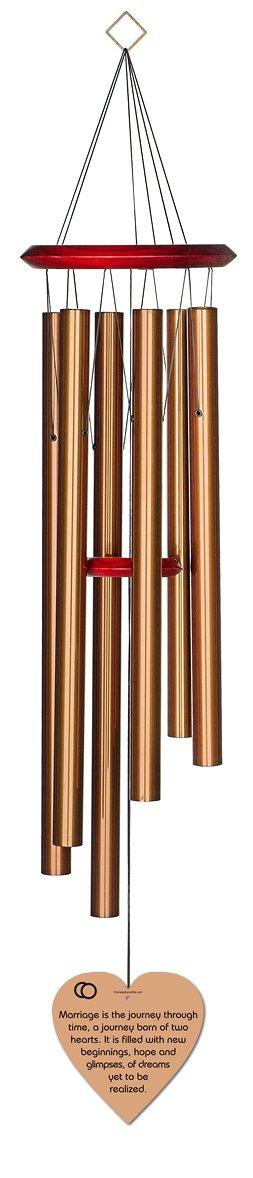 Chimesofyourlife marriage journey-heart-35-bronze Marriage Journey Wedding Wind Chime, 35-Inch, Bronze
