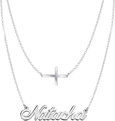 Personalized Name Necklaces 925 Sterling Silver Made with Any Name 16-18 Adjustable Chain