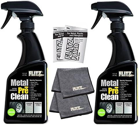Flitz Preclean Aluminum Stainless Microfiber