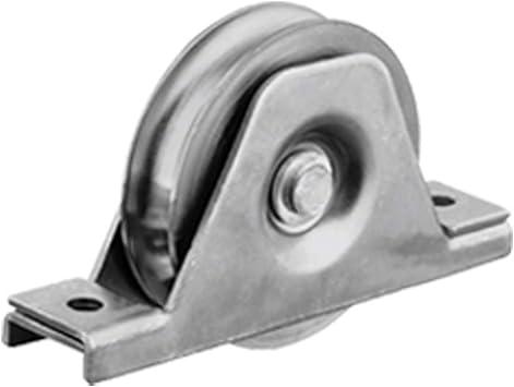 Rueda de la polea de la rueda de la puerta de 100m m en soporte,Puerta corredera, resistente para barra de 16mm: Amazon.es: Coche y moto