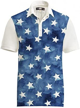 Amazon.com: Loudmouth Golf Mens Polo - Fancy All Stars Size: 3XL ...