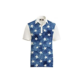 4ffa02bb3ded Amazon.com  Loudmouth Golf Mens Polo - Fancy All Stars Size  3XL  Everything  Else