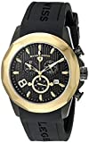Swiss Legend Men's 10042-BB-01-GB Monte Carlo Chronograph Black Textured Dial Black Silicone Watch