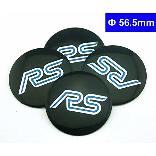 4pcs D010 56.5mm Car Styling Accessories Emblem Badge Sticker Wheel Hub Caps Centre Cover RS RACING FORD Focus 2 Focus 3 FIESTA F-150 Kuga FUSION ESCAPE EDGE