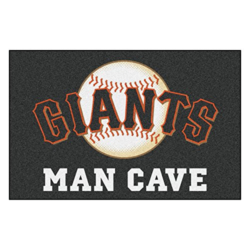 (MLB San Francisco Giants Man Cave Starter Rectangular Mat Area Rug)