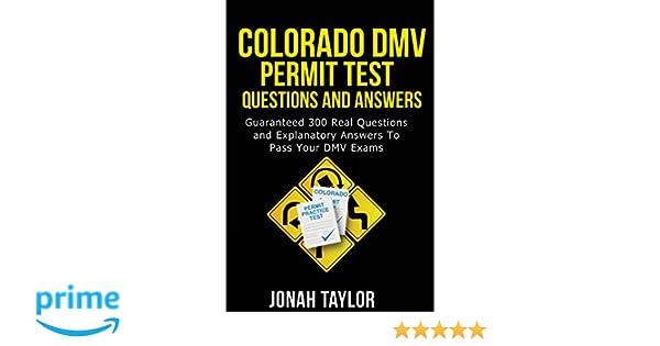 dmv driving test book colorado
