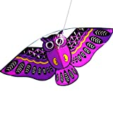 Yeefant 3D Owl Kite One of The Best Selling Toys Sports Single Line Software Animal Kites Flying Outdoor Games and Activities for Kids,Good Plan Memorable Summer Fun,Purple