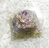 Violet Flame Orgone Pyramid/White Light Crystal Pyramid/Orgonite Pyramid