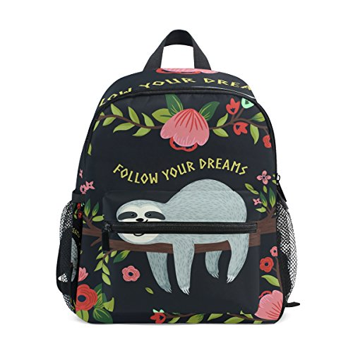 Your Kindergarten Girls Toddler Follow ZZKKO Pre Backpack School Animal Kids Bag Boy Funny Sloth for Dream wI7gx7Aq