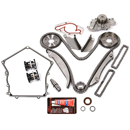 Evergreen TKTCS5027HWPT2 Fits 00-04 Dodge Chrysler 2.7L Timing Chain Kit Water Pump (SBEC cam gear) Timing Cover Gasket