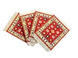 Set of 4 Rug Table Coasters – Persian Design