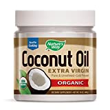 Nature's Way Organic Coconut Oil - 16 oz. Gluten Free, Non GMO Extra Virgin Coconut Oil for Health, Skin, Hair. Cooking and Baking Supplies