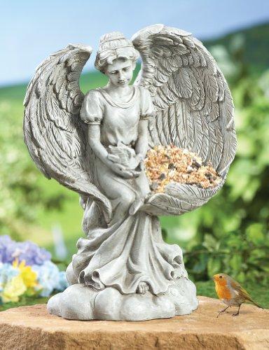 Resting Angel Bird Feeder Yard Sculpture