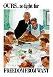 Norman Rockwell Freedom From Want WWII War Propaganda Art Print Poster 13 x 19in