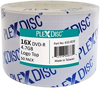 50-Pack PlexDisc PlexDisc 4.7GB DVD-R DVD Spindle