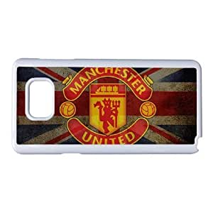 Generic hard plastic Manchester United Cell Phone Case for Samsung Galaxy Note 5 White ABC8355585